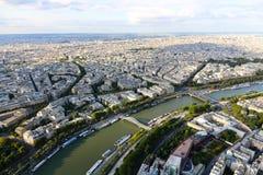 Река Сена - взгляд от Эйфелева башни Стоковое Изображение RF