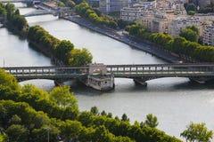 Река Сена - взгляд от Эйфелева башни Стоковая Фотография RF