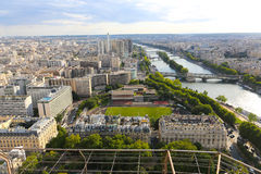 Река Сена - взгляд от Эйфелева башни Стоковые Фото