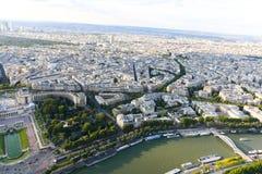 Река Сена - взгляд от Эйфелева башни Стоковые Изображения RF