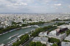 Река Сена в Париже Стоковая Фотография RF