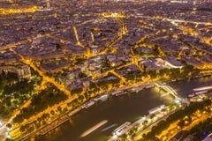 Река Сена и свод триумфа в Париже Стоковое Фото