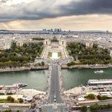Река Сена и Trocadero в Париже Стоковое Изображение RF