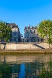 Река Сена на острове Lois Святого, Париже. Стоковое Изображение RF