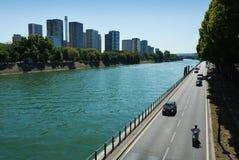 Река Сена, Париж, Франция. Стоковое Фото