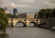 Река Сена Париж Франция Стоковое фото RF