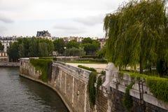 Река Сена Париж Франция Стоковое Изображение RF