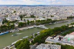 Река Сена - Париж Стоковое Фото