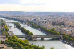 Река Сена - Париж Стоковое Изображение