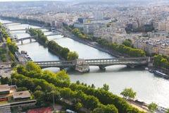 Река Сена - Париж Стоковые Фотографии RF
