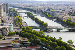 Река Сена - Париж Стоковое Изображение RF