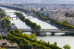 Река Сена - Париж Стоковые Изображения RF