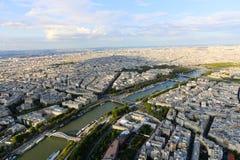 Река Сена - Париж Стоковое фото RF
