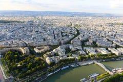 Река Сена - Париж Стоковая Фотография RF