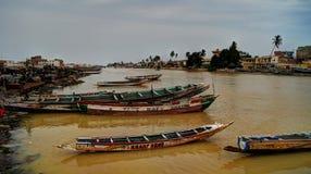 Река Сенегала, Сент-Луис стоковое изображение