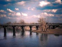 река скрещивания Стоковое фото RF