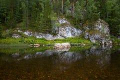 Река среди утесов Стоковая Фотография RF