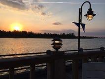 Река страха накидки, Уилмингтон, Северная Каролина стоковые фотографии rf