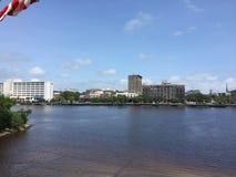 Река страха накидки, Уилмингтон, Северная Каролина стоковое фото