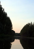 река сумрака Стоковое Изображение