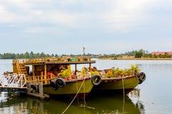 река Таиланд 2 шлюпок Стоковое Фото