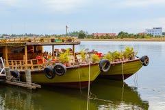 река Таиланд 2 шлюпок Стоковые Фотографии RF