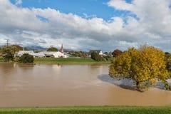 Река Тейлора в Blenheim, Новой Зеландии стоковое фото rf
