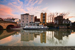 Река Темза в Оксфорде Стоковое Изображение RF