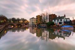 Река Темза в Оксфорде Стоковые Фотографии RF