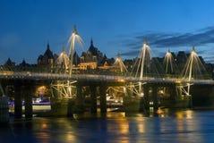 Река Темза на ноче Стоковая Фотография RF