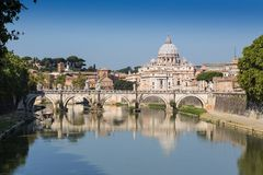 Река Тибра в Риме, Италии Стоковое Изображение RF