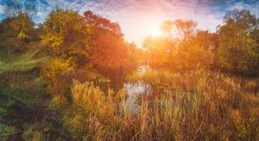 река утра ландшафта шлюпки предыдущее Стоковые Фото