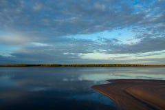 Река утра спокойное Стоковое Изображение RF