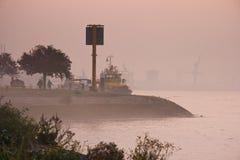 река утра тумана Стоковое Изображение RF