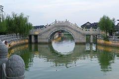 Река Хуанхэ в Китае поздно вечером Стоковое Изображение