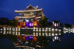 Река Хуанхэ на ноче Стоковые Изображения RF