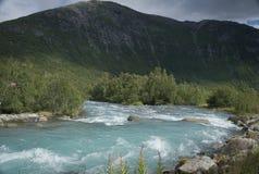 Река через горы Стоковые Изображения