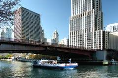 Река Чикаго Стоковые Фотографии RF