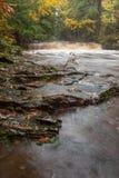 Река шифера падает в верхний полуостров Мичигана, США Стоковая Фотография RF
