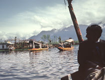 река шлюпки Стоковая Фотография