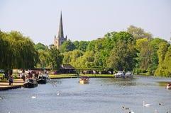 Река Эвон, Стратфорд-на-Эвон Стоковое Изображение