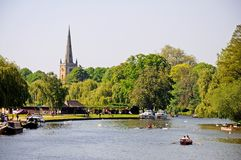 Река Эвон, Стратфорд-на-Эвон Стоковые Фото