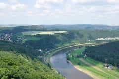 Река Эльба Стоковая Фотография