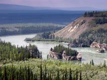 Река Юкон Канада Стоковые Изображения RF