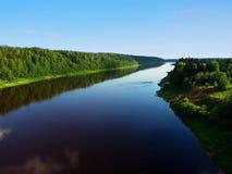 река 2 земель Стоковое фото RF