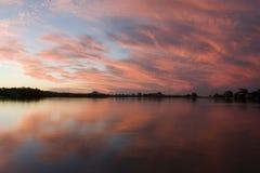 река 2 облаков Стоковое Изображение RF