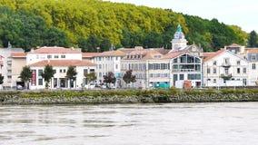 Река Adour в Байонне акции видеоматериалы