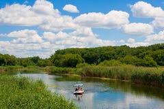 Река Aidar в Украине Стоковые Фотографии RF