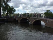 река amsterdam стоковое фото