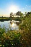 Река Aramilka в Aramil Стоковые Изображения